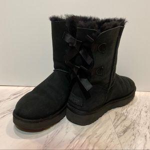 UGG Bailey Bow II Black Short Boots